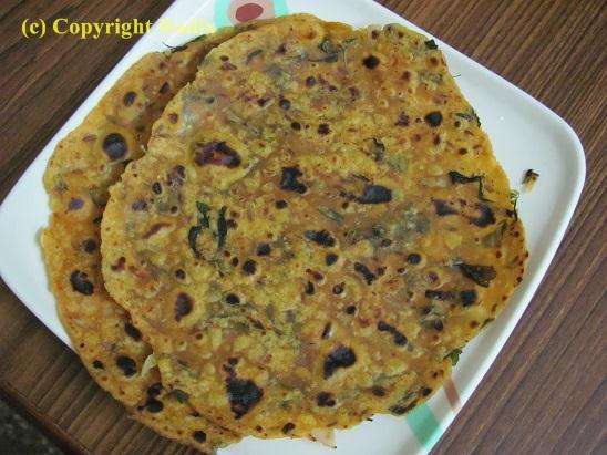 Recipe : Methi Chapathi /Thepla